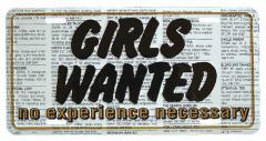 Girls wanted Blechschild - 30cm x 15cm