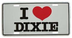 I love Dixie Blechschild - 30cm x 15cm