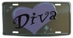 Diva Blechschild - 30cm x 15cm