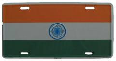 Indien Blechschild - 30cm x 15cm