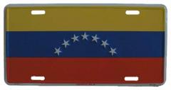 Venezuela Blechschild - 30cm x 15cm