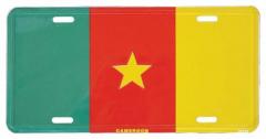 Camerun Blechschild - 30cm x 15cm