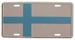 Finnland Blechschild - 30cm x 15cm