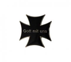 Eisernes Kreuz Anstecker - Gott mit Uns