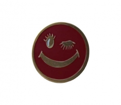 Anstecker Roter Smiley