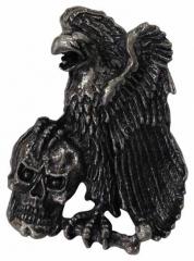 Ansteckpin Adler und Totenkopf