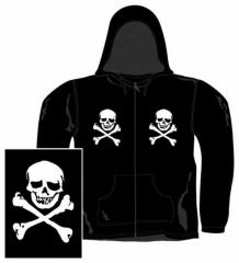 Gothic Kaputzensweatshirt - Skulls