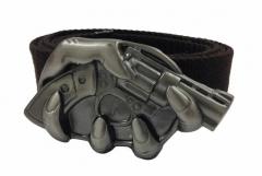Brauner Canvasgürtel Revolver