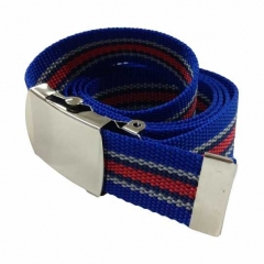 Blue & Red Canvas Belt