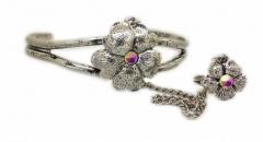 Armspange Blume & Ring