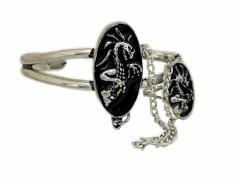 Armspange Drache mit Ring