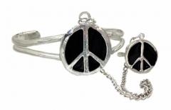 Armspange mit Peace & Ring