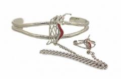 Armspange Einhorn mit Ring