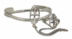 Armspange Kreuz mit Ring