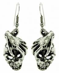 Hand Totenkopf Ohrringe