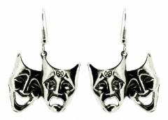 Doppelgesichter Ohrringe