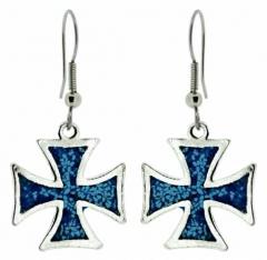 Ohrringe Blaues Eisernes Kreuz