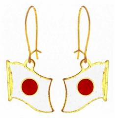 Ohrringe Japan Fahne
