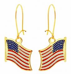 Ohrringe Amerika Flagge