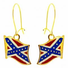 Ohrringe Konföderierten Flagge