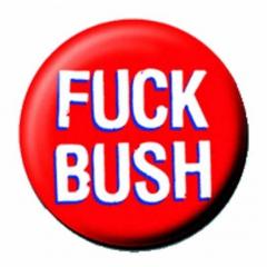 Anstecker Fuck Bush