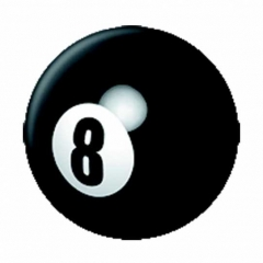 Anstecker 8 Ball
