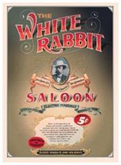 Postkartenset White Rabbit