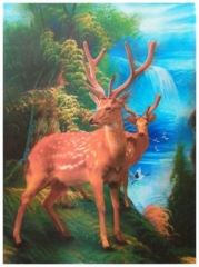 3D Poster Hirsche in freier Natur