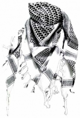 Plo Scarf - White Black
