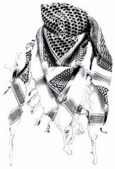 Palästinensertuch Weiss Schwarz