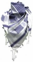 Palästinensertuch Weiss Blau