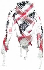 Plo Scarf - White - Red & Black