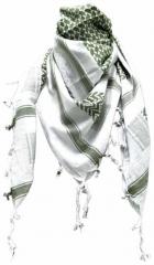 Palästinensertuch Weiss Olivgrün