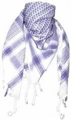 Palästinensertuch Weiss Flieder