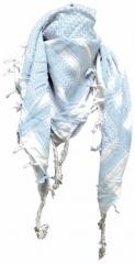 Palästinensertuch Weiss Hellblau