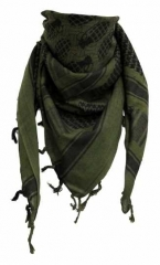 Shemagh Olive Green Black with Grenade