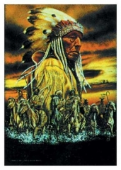 Posterfahne Indian Sitting Bull