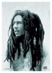 Posterfahne Bob Marley B/W