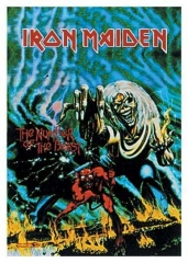 Posterfahne Iron Maiden - Number of the beast
