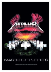 Posterfahne Metallica - Master of Puppets