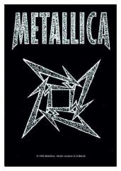 Posterfahne Metallica - Ninja Logo