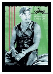 Posterfahne 2 PAC -  His music lives on