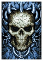 Posterfahne Spiral Collection - Plugged Skull
