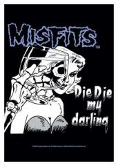 Posterfahne Misfits - Die Die My Darling