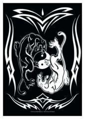 Posterfahne Tribal - Yin Yang Panthers