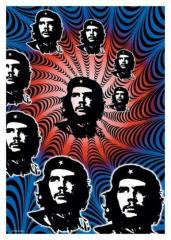 Posterfahne Che Guevara - Spiral