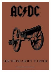 Posterfahne AC/DC - For Those About to Rock