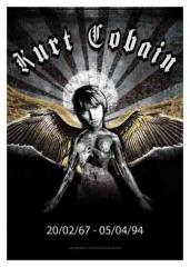 Posterfahne Kurt Cobain