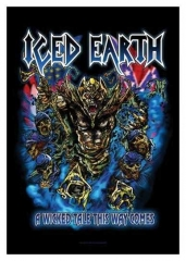 Posterfahne Iced Earth A Wicked Tale