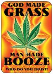 Aufkleberset God made grass